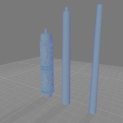 Snape Wand .png Télécharger fichier OBJ Baguette de serpent Severus • Plan pour impression 3D, Cornered_Circle