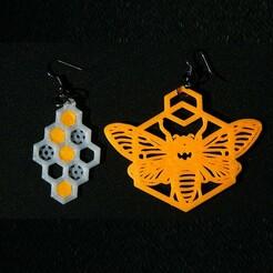 2sq.jpg Télécharger fichier STL Ensemble de boucles d'oreilles en nid d'abeille • Modèle imprimable en 3D, lauraioana