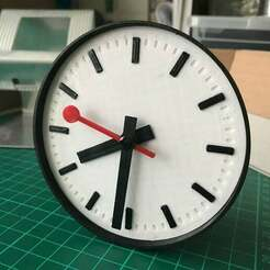 2019-06-03_20.32.09.jpg Download free STL file Swiss Station Clock • 3D printer template, george_leeson