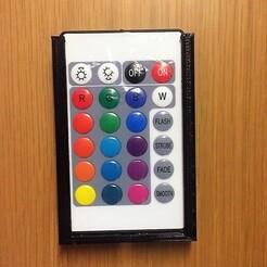 RGB remote control holder1.jpg Download free STL file RGB led strip remote control • Object to 3D print, GiorgioGiorgio