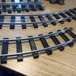 track_curved.jpg Télécharger fichier STL gratuit Segment de voie courbe de calibre 35 • Modèle imprimable en 3D, ymrich