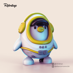 POST CULTS 3D 02.png Download free STL file PIWI BABY (ASTRONAUT) • Design to 3D print, Retratoys