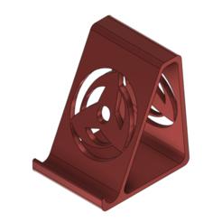 cell_stand_v2.png Télécharger fichier STL gratuit Support pour smartphone avec Kakashi Mangekyō Sharingan • Plan pour impression 3D, DanTech
