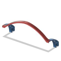 Led_support_v10.png Télécharger fichier STL gratuit Support de la bande LED sur la fente en V • Design pour impression 3D, DanTech