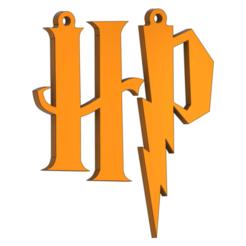 Letter_Earring_v4.png Download free STL file Earrings Pendant Letter Harry Potter • Design to 3D print, DanTech