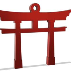 Torii_Earring_Pendant_v3.png Download free STL file Earrings Pendant Japanese Torii • 3D printable model, DanTech