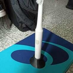 IMG_20201122_132250.jpg Download free STL file Electric Xiaomi toothbrush holder • 3D printer design, DanTech