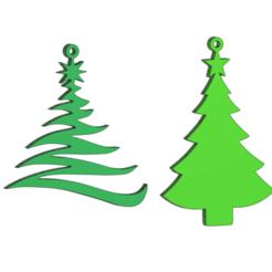 tree2.png Télécharger fichier STL gratuit Boucles d'oreilles en forme d'arbre de Noël • Plan imprimable en 3D, DanTech