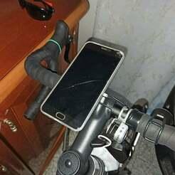 IMG_20210110_160545-min.jpg Download free STL file bike handlebar phone mount • 3D printing object, DanTech