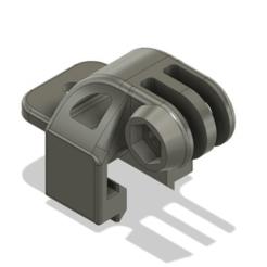 v-slot_gopro_1.png Télécharger fichier STL gratuit Le soutien du Gopro sur le créneau en V • Design imprimable en 3D, DanTech