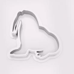 Walross-Ausstechform v1.png Download STL file Walrus Cookie Cutter • 3D print object, ArL