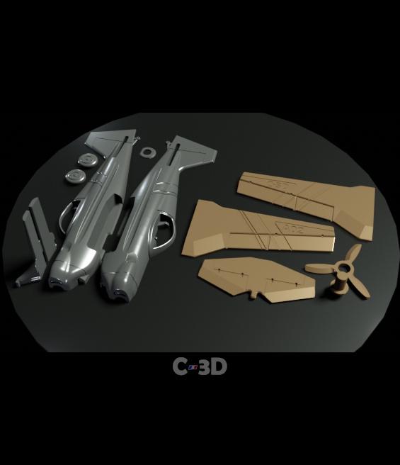 Kit.jpg Download free STL file A02 Plane C-3D • Template to 3D print, Ben_C3D