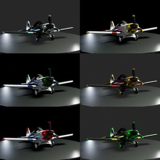couleurs.jpg Download free STL file A02 Plane C-3D • Template to 3D print, Ben_C3D