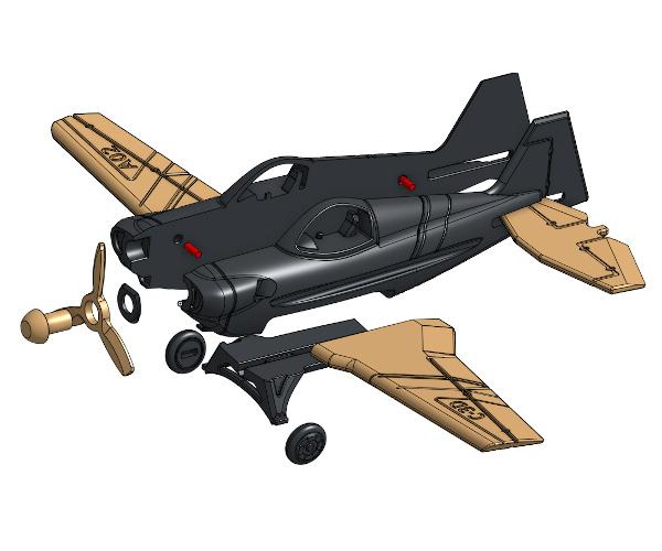 Montage.jpg Download free STL file A02 Plane C-3D • Template to 3D print, Ben_C3D