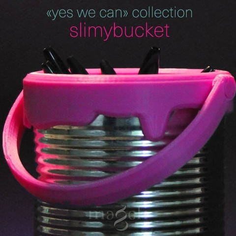 slimybucket.jpg Download STL file Slimybucket • Model to 3D print, mageli