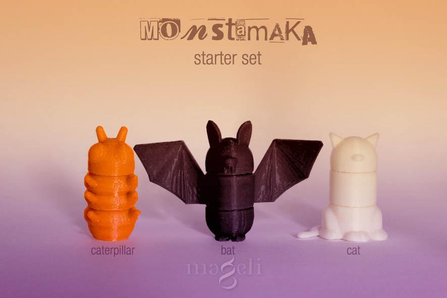 monstamaka_starter_set_1.jpg Download free STL file 3D Monstamaka • 3D printing design, mageli