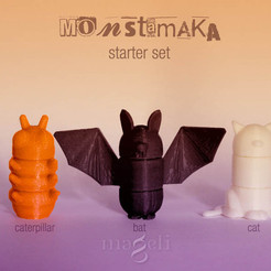 Download free 3D printer templates 3D Monstamaka, mageli