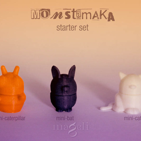 monstamaka_starter_set_2.jpg Download free STL file 3D Monstamaka • 3D printing design, mageli