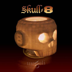 skull-81.jpg Download free STL file skull-8 • 3D printer object, mageli