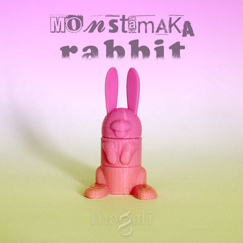 Free 3d printer files Rabbit, mageli
