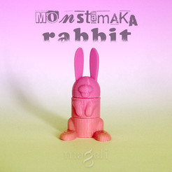 Free Rabbit 3D printer file, mageli