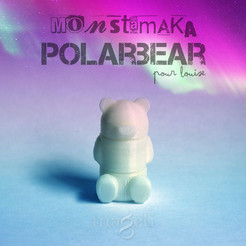 Download free 3D printing templates Polarbear, mageli