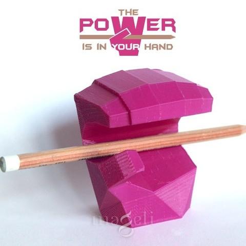 poWer 2.jpg Download free STL file PowerHand • Model to 3D print, mageli