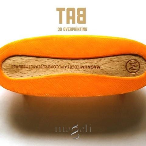 TAB 1.jpg Download free STL file tab • 3D printer template, mageli