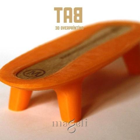 TAB 2.jpg Download free STL file tab • 3D printer template, mageli