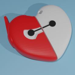 Render1.png Télécharger fichier STL Porte-clés Baymax Valentines • Modèle pour impression 3D, octmunoz3d