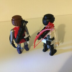 IMG_6588.JPG Download STL file Playmobil Quiver + Dagger Belt • 3D printer model, Black_Jack_Dagger