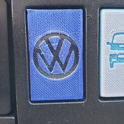 20210116_111324.jpg Download STL file VW T4 dash blank VW deboss • 3D printable object, fatface266