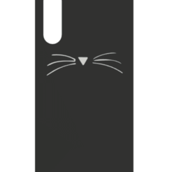 xiaomi MI a3 gato.png Download STL file Cat phone case  • 3D printer design, daryelazo-