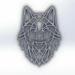 lobo geométrico.JPG Download STL file Geometrical wolf • Model to 3D print, markoscdv