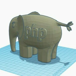 editeur1-light.jpg Download free STL file elePHPant 3D • 3D printer object, hellosct1