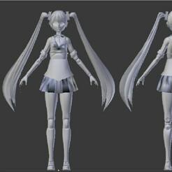 Original.jpeg Télécharger fichier STL Hatsune Miku - School Time V 1.0 • Design à imprimer en 3D, GatoLoko