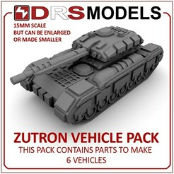 zutronmbt.jpg Download STL file 15MM SCALE ZUTRON VEHICLE PACK • 3D printer model, DRSMODELS