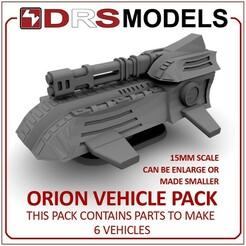 orionmbt.jpg Télécharger fichier STL VÉHICULES D'ORION À L'ÉCHELLE 15MM • Modèle pour impression 3D, DRSMODELS
