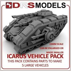 icarusmbt.jpg Télécharger fichier STL VÉHICULES ICARUS À L'ÉCHELLE 15 MM • Design pour imprimante 3D, DRSMODELS