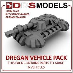 dreganmbt.jpg Download STL file 15MM SCALE DREGAN VEHICLE PACK • 3D printer object, DRSMODELS