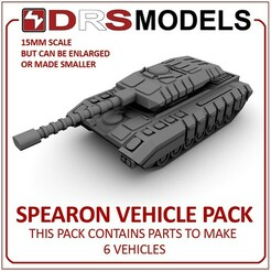 spearonmbt.jpg Download STL file 15MM SCALE SPEARON VEHICLE PACK • Object to 3D print, DRSMODELS