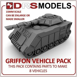 griffonmbt.jpg Télécharger fichier STL VÉHICULES GRIFFON DE 15 MM • Modèle à imprimer en 3D, DRSMODELS