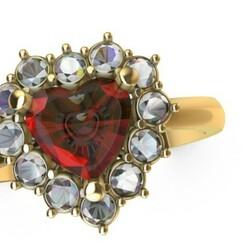corazon anillo.jpg Télécharger fichier STL anneau de coeur • Objet à imprimer en 3D, saulsaavedrabernal
