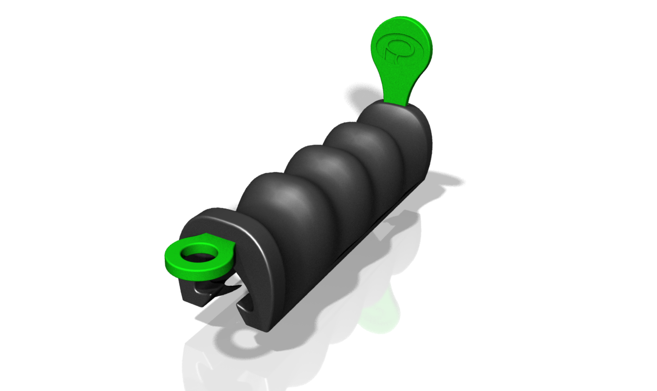 """withcoin1.png Download free STL file Flexible Plastic Bag Handle with """"coins"""" • 3D printing object, Palmiga"""