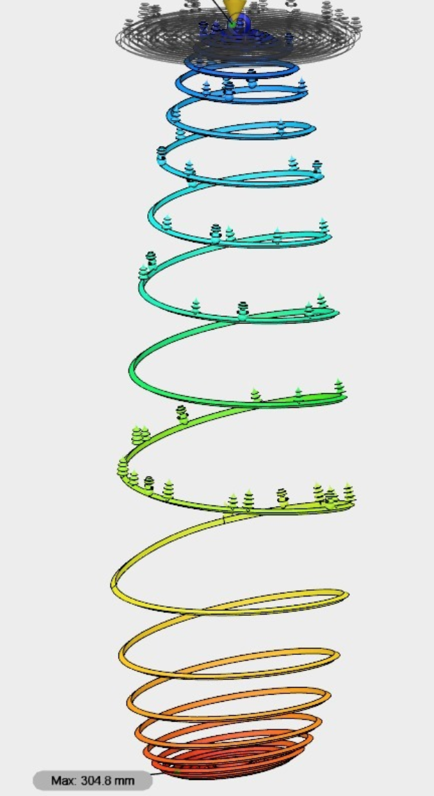 Capture d'écran 2017-12-26 à 11.12.10.png Download free STL file Christmas Tree Spiral Bauble with Xmas Trees & Snowmen • 3D printable template, Palmiga