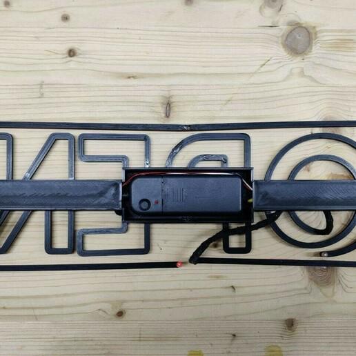"""Back.jpg Télécharger fichier STL Panneau """"Ouvert"""" EL WIRE • Plan pour imprimante 3D, DiGave"""