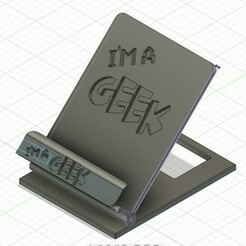 geek-ConvertImage.jpg Télécharger fichier STL gratuit Support mobile GEEK • Modèle pour imprimante 3D, linuxien2694