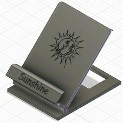 sunshine-ConvertImage.jpg Télécharger fichier STL gratuit Support mobile Sunshine • Modèle imprimable en 3D, linuxien2694