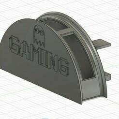 support-casque-ConvertImage.jpg Download free STL file Desktop headset holder • 3D printer design, linuxien2694