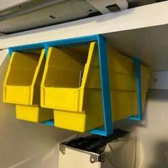 IMG_2808.jpg Télécharger fichier STL gratuit Support de suspension pour bacs de stockage • Design imprimable en 3D, afazzari